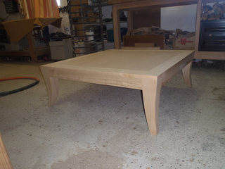 Table basse en merisier